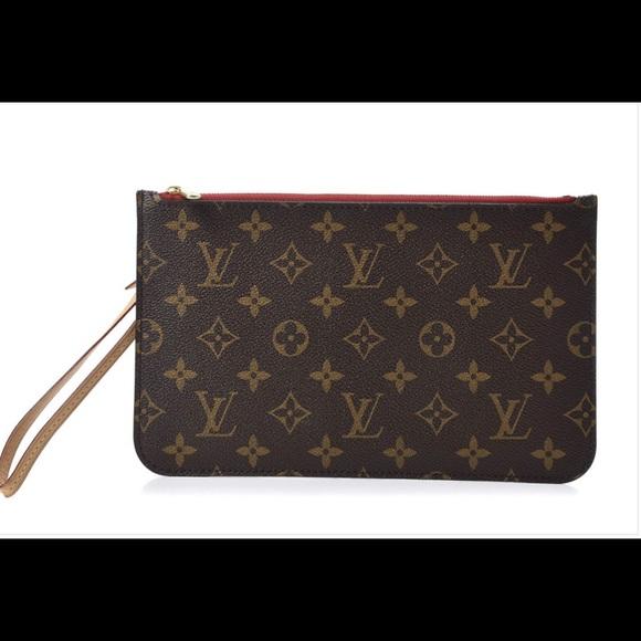 Louis Vuitton Neverfull MM Monogram Cherry Pouch
